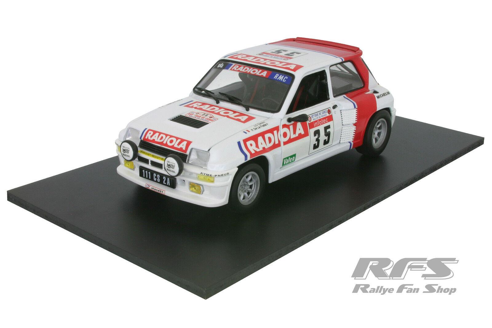 RENAULT 5 TURBO-Torre/de La Foata-Rally Tour de Corse 1986 - 1:18 UH 4545