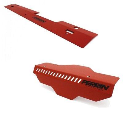 Perrin Radiator Shroud /& Pulley BLACK Belt Cover Combo Subaru WRX /& STi 08+