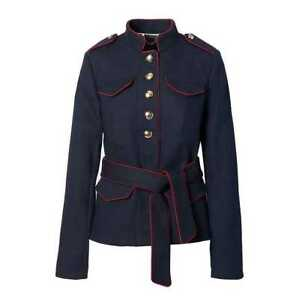 NEW WOMEN S XS S BANANA REPUBLIC OLIVIA PALERMO BELTED MILITARY ... 0ba1832d045