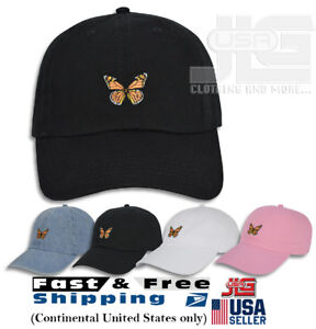 Image is loading Monarch-Butterfly-Embroidered-Dad-Cap-Hat-Adjustable-Polo- af939be53cd1