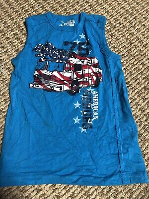 Jumping Beans Tank Top Shirt Boys Size 2T Orange Sleeveless New With Tags