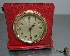 Antike Art Deco Reise Wecker Uhr - mechanische Kienzle Tischuhr Klappwecker
