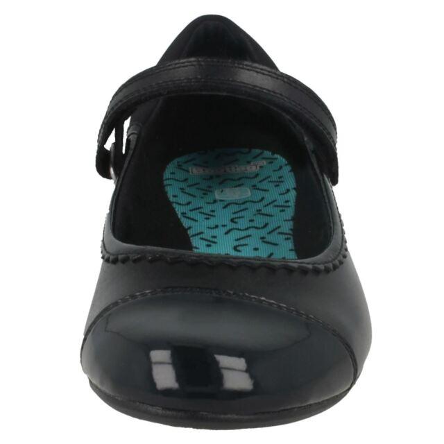 Kett Bootleg Monte Lite Boys Black Leather School Shoes H Fit R28A