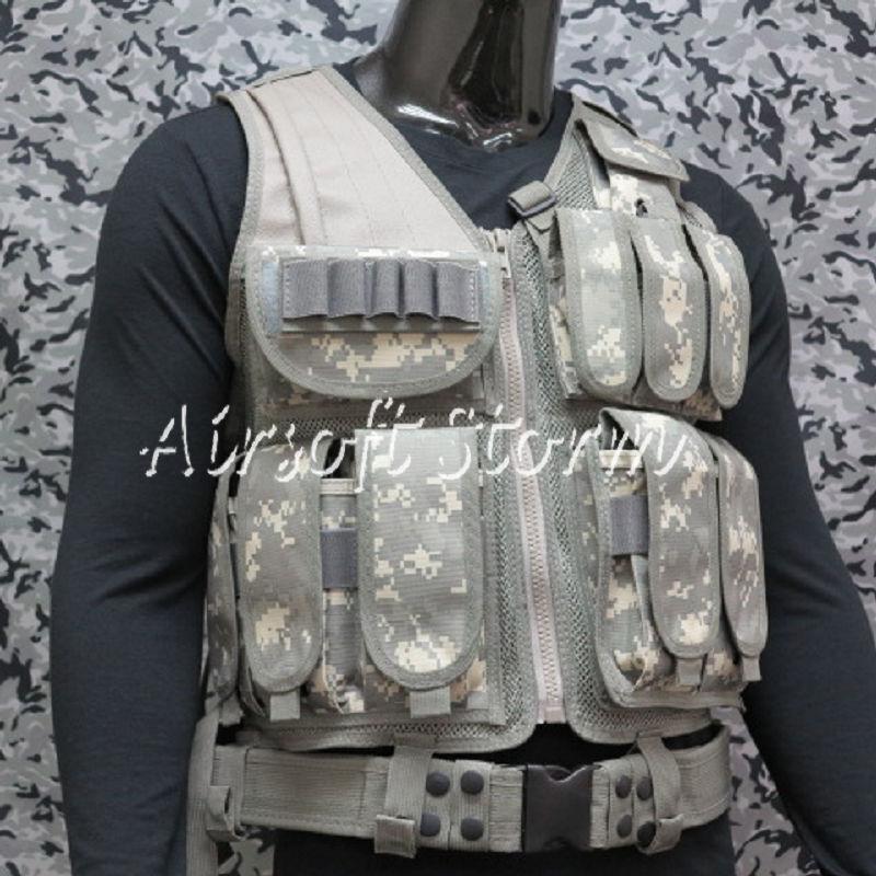 Deluxe Airsoft SWAT Tactical Gear Combat Mesh Vest ACU Digital Camo