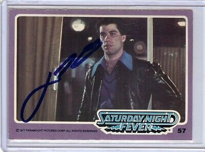 Autographs-original John Travolta Signed Autographed Trading Card Saturday Night Fever 57 Jsa U99016