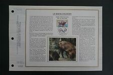 FRANCE CEF 1974 BISON WISENT ETB ERSTTAGSBLATT SAMMELBLATT DOCUMENT z1401