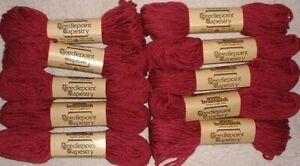 EP-1714-Dark-Rose-Brunswick-Wool-Needlepoint-Tapestry-Yarn-Lot-of-10