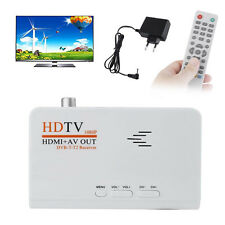Digital HD TV 1080P DVB-T-T2 TV Box HDMI +AV Out Receiver Remote Control EU Plug