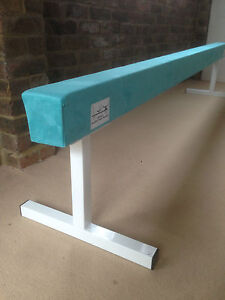 finest-quality-gymnastics-gym-balance-beam-8FT-long-18-034-high-TURQUOISE-NEW