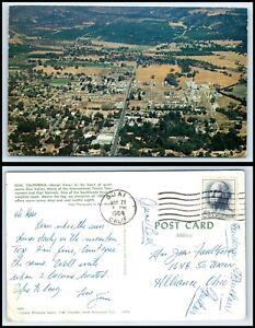 CALIFORNIA-Postcard-Ojai-Aerial-View-R19