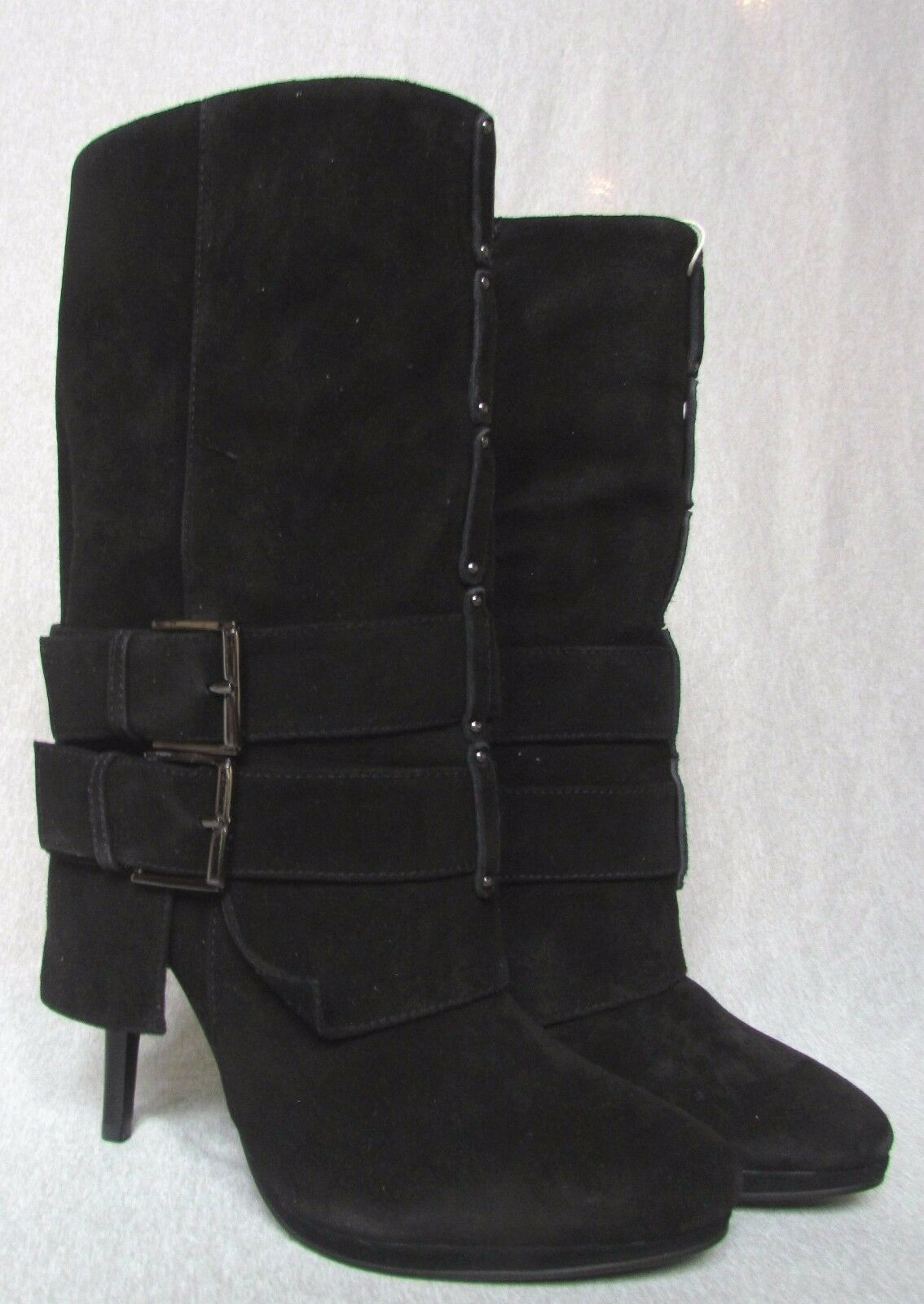 presa GIUSEPPE ZANOTTI for BALMAIN nero SUEDE LEATHER stivali MSRP    1750  l'ultimo