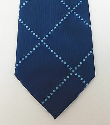 Thomas Nash blue check tie with spots