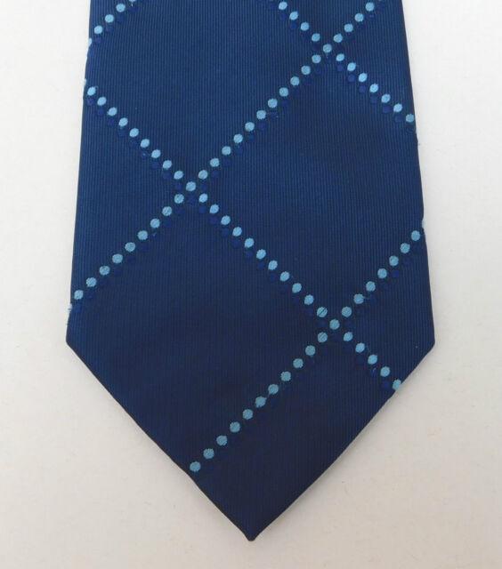 Thomas Nash blue check tie with spots