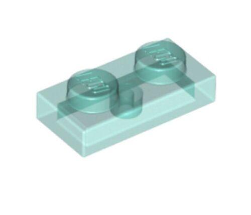 6051918-6240222 Lot x6 Lego Plaque 1x2 bleu transparent blue plate