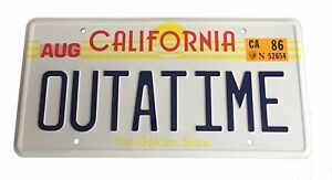 OUTATIME-Back-To-The-Future-License-number-Plate-Marty-McFly-DMC-12-DeLorean