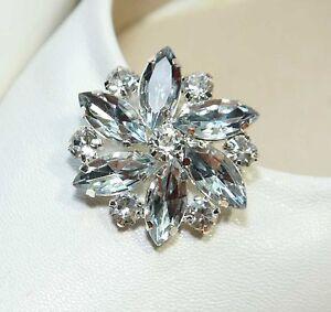 Snowflake-Flower-Rhinestone-Acrylic-Crystal-Wedding-Sandals-Shoe-Clips-Pair