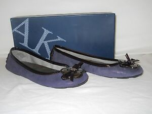 Anne-Klein-New-Womens-Bassin-Purple-Leather-Flats-6-5-M-Shoes