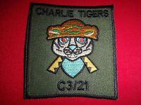 C Company 3rd Battalion 21st Infantry Regiment CHARLIE TIGERS Vietnam War Patch