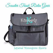 DIAPER BAG personalized baby tote Grey Gray Aqua blue monogrammed NEW