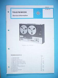Service Manual-anleitung Für Telefunken M 2000 original Anleitungen & Schaltbilder