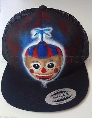 Five Nights at Freddy's Balloon boy personalized airbrush trucker adult kid hat