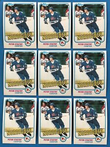 Investment Lot (18) 1981-82 Topps #39 & 61 Peter Stastny Rookie Cards - Nr. Mint