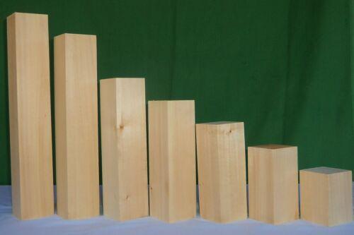 Lindenholz Drechseln verschiedene Größen Stärke 72 mm Kantel zum Schnitzen