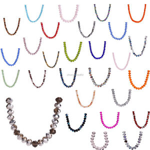 100pcs-6mm-Charms-Rondelle-Faceted-Crystal-Glass-Spacer-Loose-DIY-Craft-Beads
