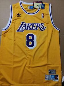 Throwback Los Angeles Lakers Kobe Bryant#8 (Gold) Mens Jersey XL ...