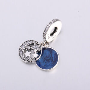 b56777517 Image is loading 7-New-Pandora-Vintage-Night-Sky-Shimmering-Midnight-