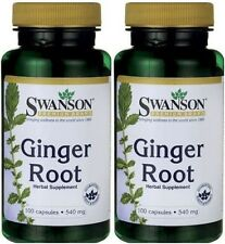 2-PACK Swanson Ginger Root 540 mg 100 Caps / FAST SHIPPING