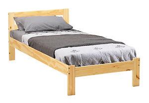 JANA-Letto singolo in legno massiccio 90x200 cm | eBay