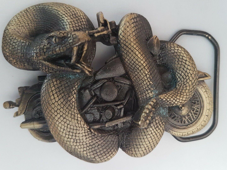 Buckle Gürtelschliesse/ Rattlesnake Bike / orig.Great American / USA 1993