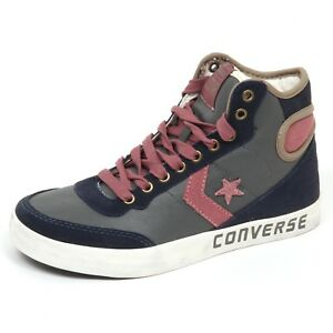 E4092 sneaker donna blu/grey CONVERSE FAST BREAK 2 HI scarpe shoe woman
