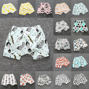 Kids Baby Boy Girl Casual Shorts Pants Toddler Infant Harem Jogger Trouser 6M-4T