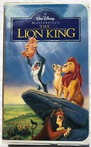 The Lion King 1994 Vhs Walt Disney S Masterpiece Collection Clamshell Ebay