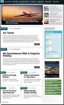 FULLY AUTOMATED TRAVEL and VACATION BOOKING WEBSITE BUSINESS + DOMAIN FOR SALE