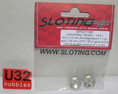 Brave Sloting Plus Sp021140 Felge Universal 16.5x10mm (x2) Alu-magn 1.1gr. Achse 2.38