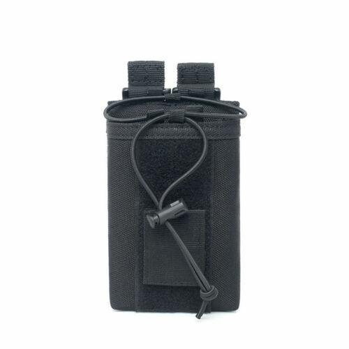 Tactical 1000D Nylon Molle Walkie Talkie Bag Radio Pouch Magazine Holder Case