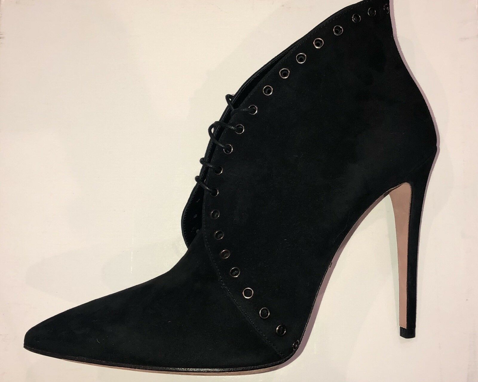 Prada women shoes heel   bootie size 40 black suede
