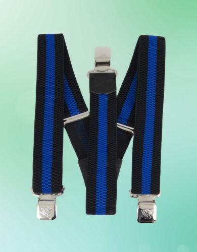 Herren Hosenträger 3er Clip 4 cm Breite Metallclip elastisch verstellbar Y-Form,