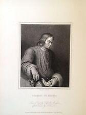 LORENZO DE MEDICI retrato XIX siglo escritor político humanista FLORENCIA