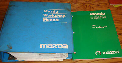 Original 2001 Mazda Millenia Shop Service Manual + Wiring ...
