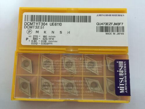 10stk Mitsubishi DCMT11T304 UE6110 DCMT32.51 Wendeplatten Carbide Inserts Neu