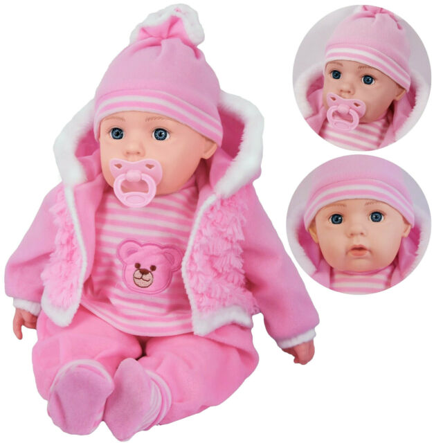 Lifelike Baby Doll 20 Large Soft Bodied Girls Toy Clothes Dummy Sound Pink For Sale Online Ebay