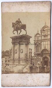 Monumento-Colleoni-Venice-Venezia-Italia-CDV-Vintage-Albumina-Ca-1860