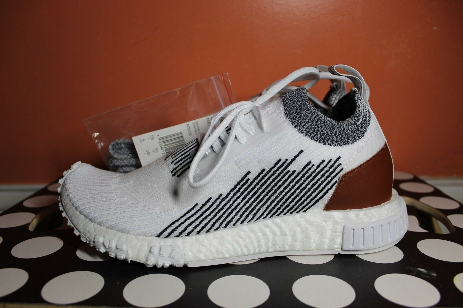 separation shoes 68d12 1b76a adidas NMD Racer Whitaker Car Club Monaco White Running Shoes Mens Size 6  AC8233 for sale online   eBay