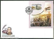 "NIGER 2014 ""WORLD WAR I 100TH ANNIVERSARY OF ITS START"" SOUVENIR SHEET FDC"