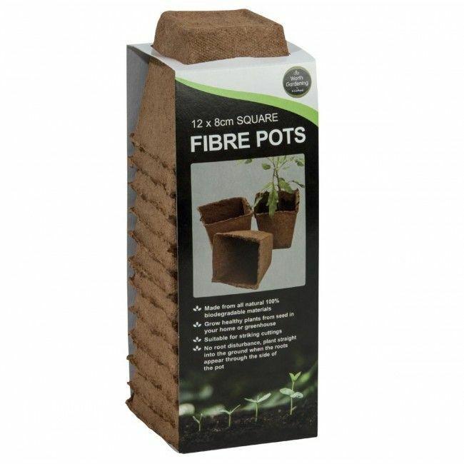 J Arthur Bowers 12 8cm Fibre Pots Seedling Biodegradable Pots