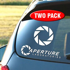Aperture Laboratories - TWO PACK - Portal Game Vinyl Decal Sticker
